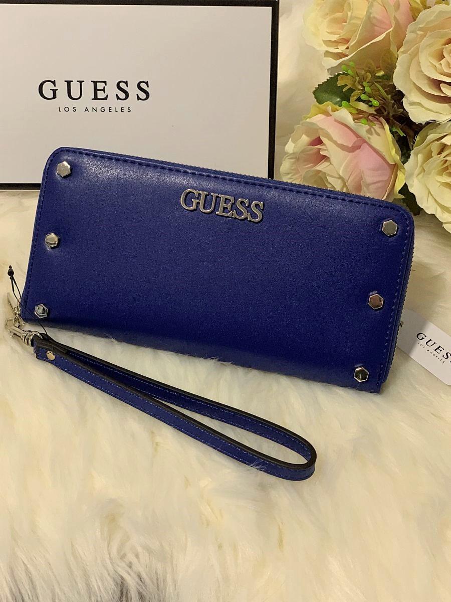 Dámska peňaženka GUESS Tia Maxi Wallet Blue