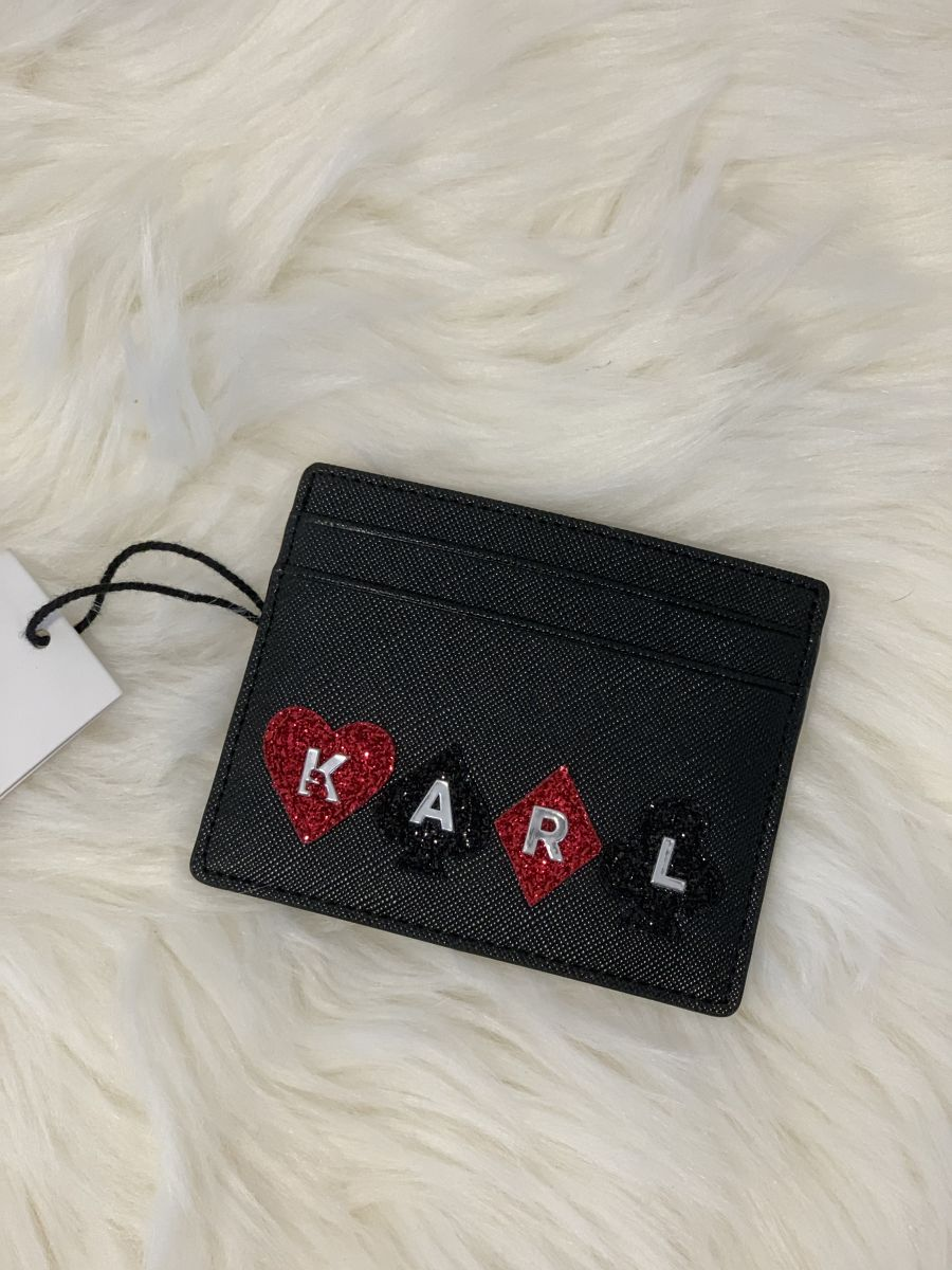 Púzdro na kreditné karty Karl Lagerfeld K/Kards Card Holder Black