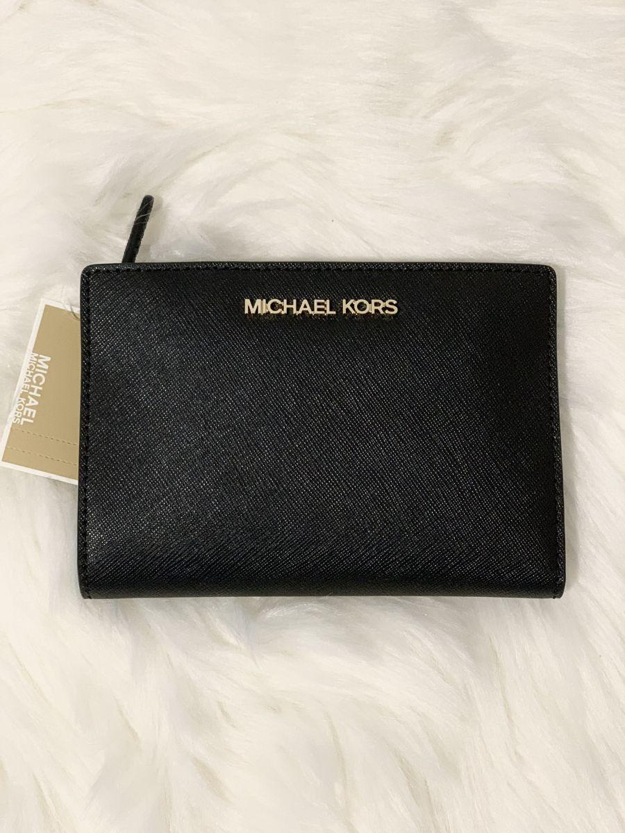 Dámska peňaženka MICHAEL KORS Jet Set Travel Medium Carryall With Card Holder Leather Black