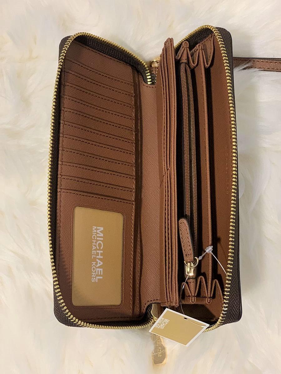 Dámska peňaženka MICHAEL KORS Jet Set Travel Large Continental Brown