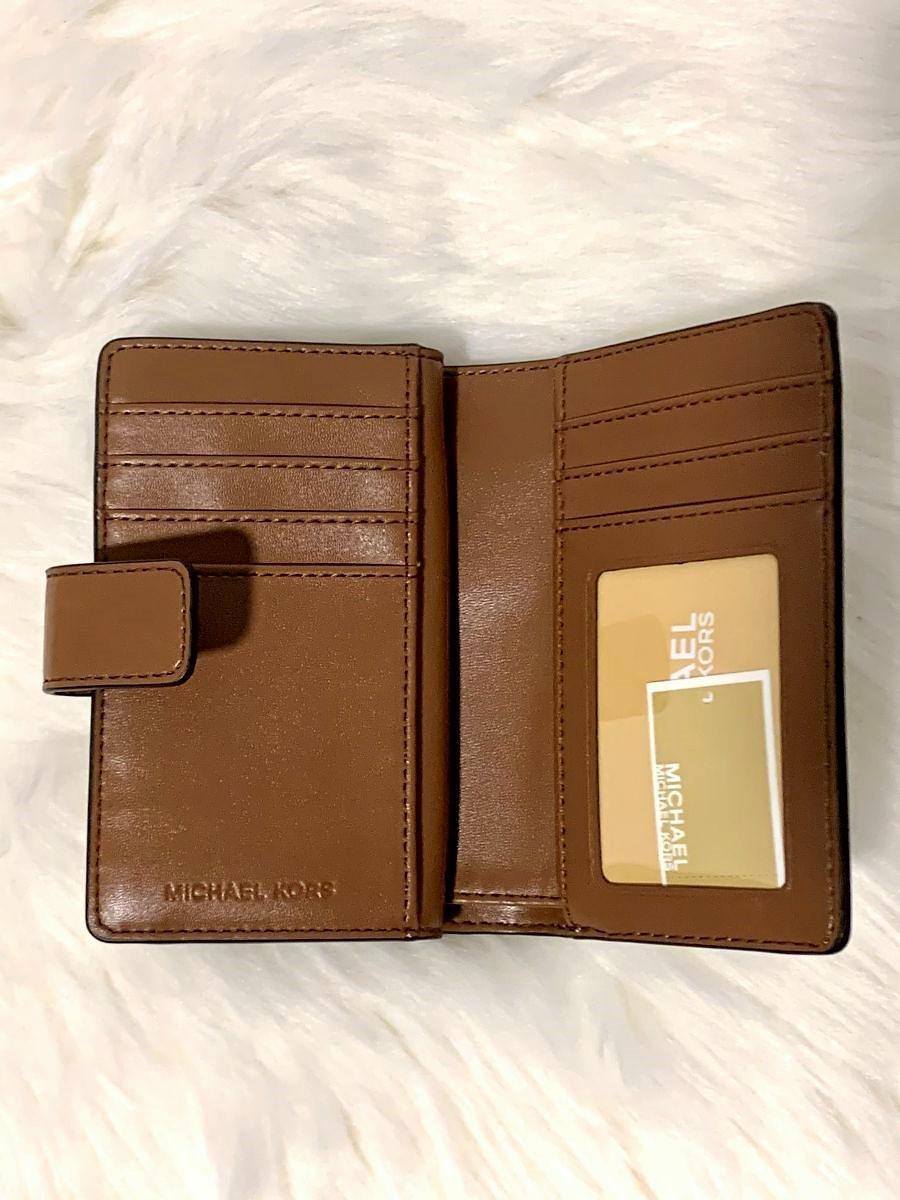 Dámska peňaženka MICHAEL KORS Desert Road Trip Jet Set Travel Medium Bifold Zip Coin Vanilla/Multi