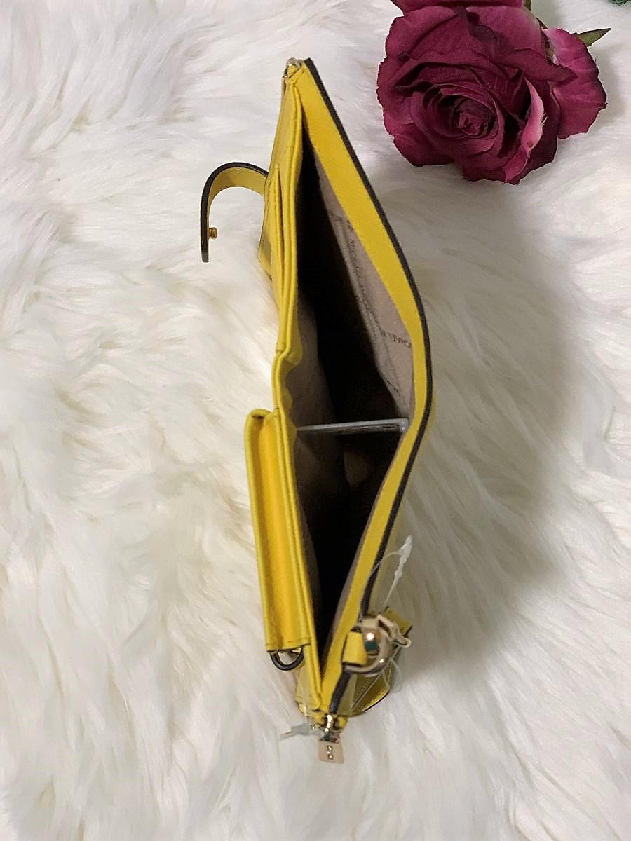 Dámska peňaženka MICHAEL KORS Jet Set Travel Double Zip Wristlet Daisy Yellow