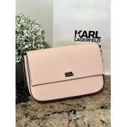 Dámska kabelka Karl Lagerfeld Stone Shoulderbag Pink Pearl