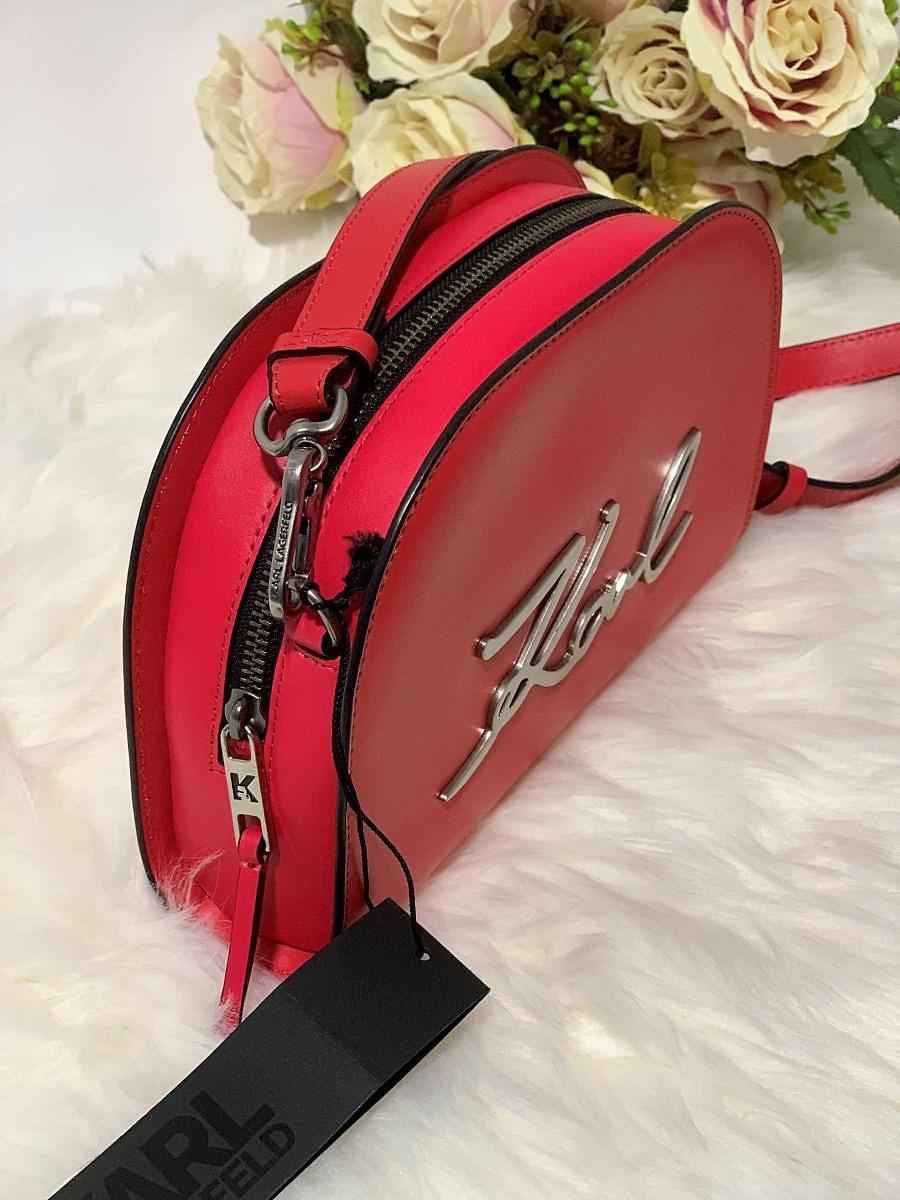 Dámska kabelka Karl Lagerfeld K/Signature Big Crossbody Tacco Red