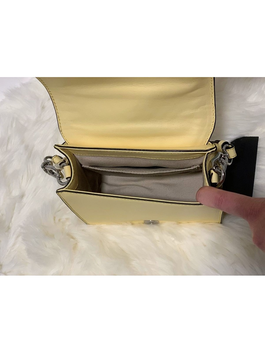 Dámska kabelka Karl Lagerfeld K/Klassik Quilted Small Crossbody Lemon