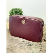 Dámska kabelka MICHAEL KORS Fulton Large EW Leather Crossbody Merlot