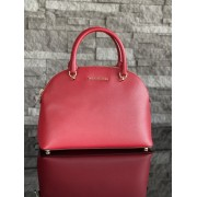 Dámska kabelka MICHAEL KORS Emmy Large Dome Satchel Leather Red