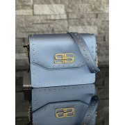 Dámska kabelka Pinko Bombardino Cartella Pu Effetto Light Blue