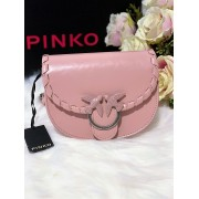 Dámska kabelka PINKO Baby Round Twist Catena Soft Pink