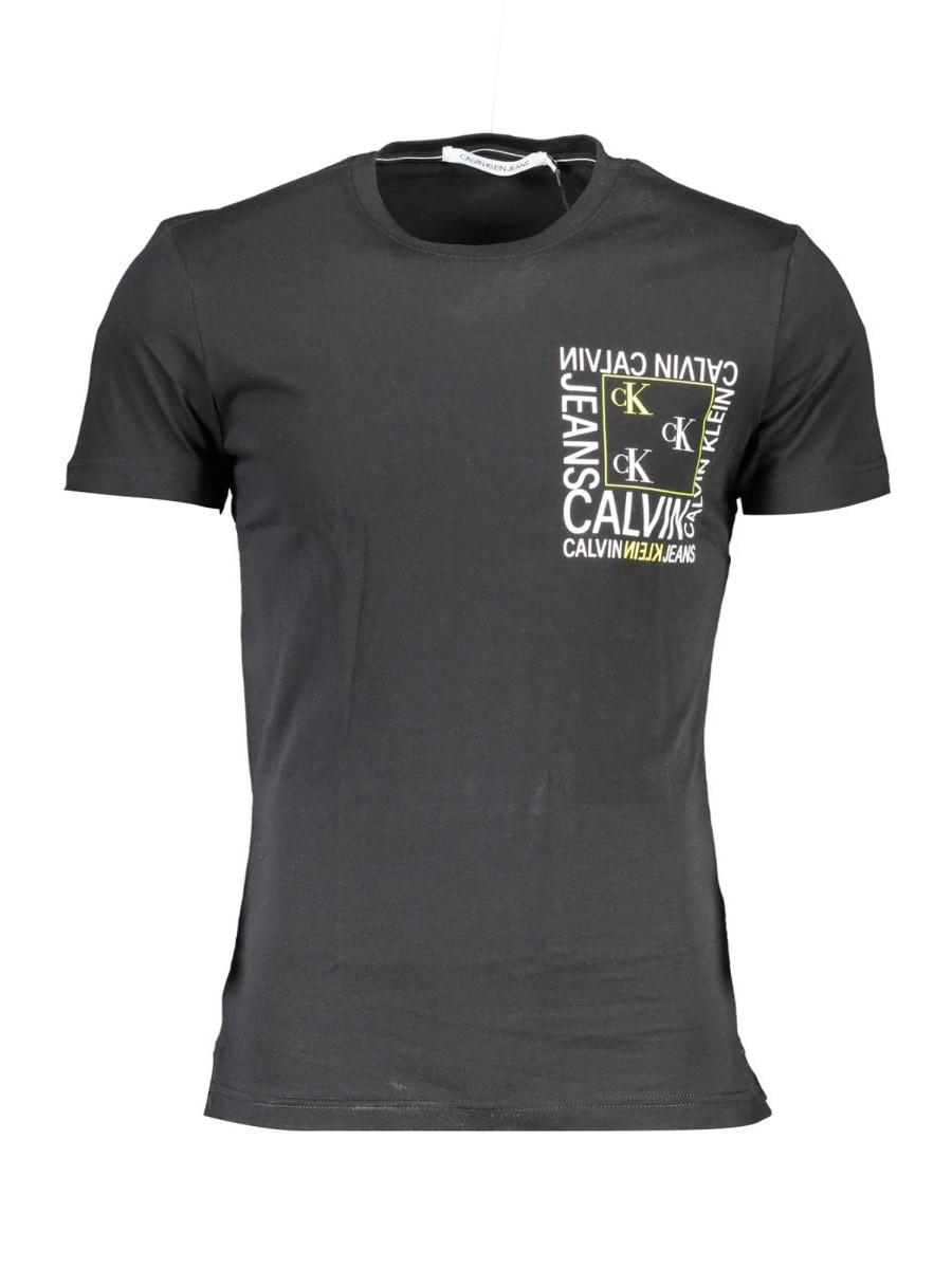 Pánske čierne tričko CALVIN KLEIN JEANS