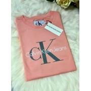 Dámske tričko CALVIN KLEIN JEANS Monogram Logo Blossom