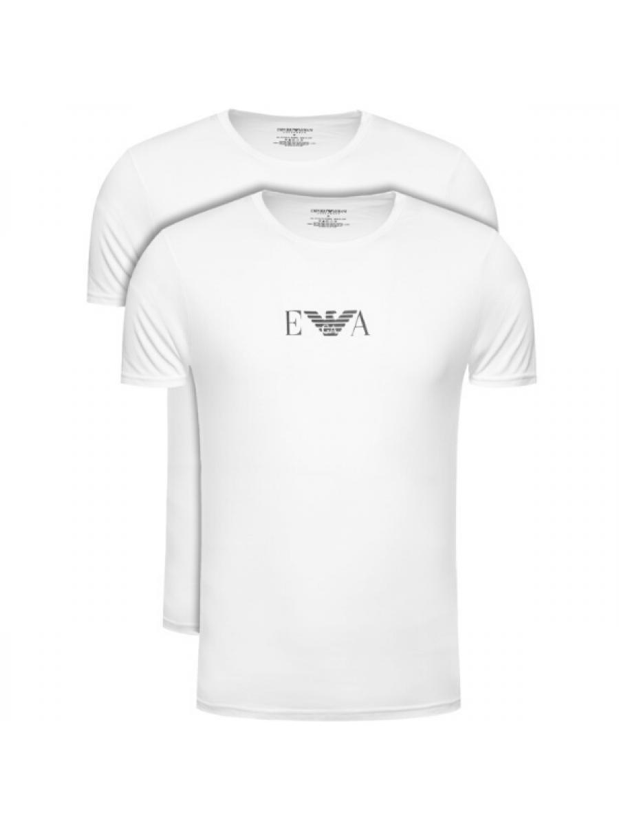 Pánske tričko EMPORIO ARMANI Crew Neck 2 Pack White