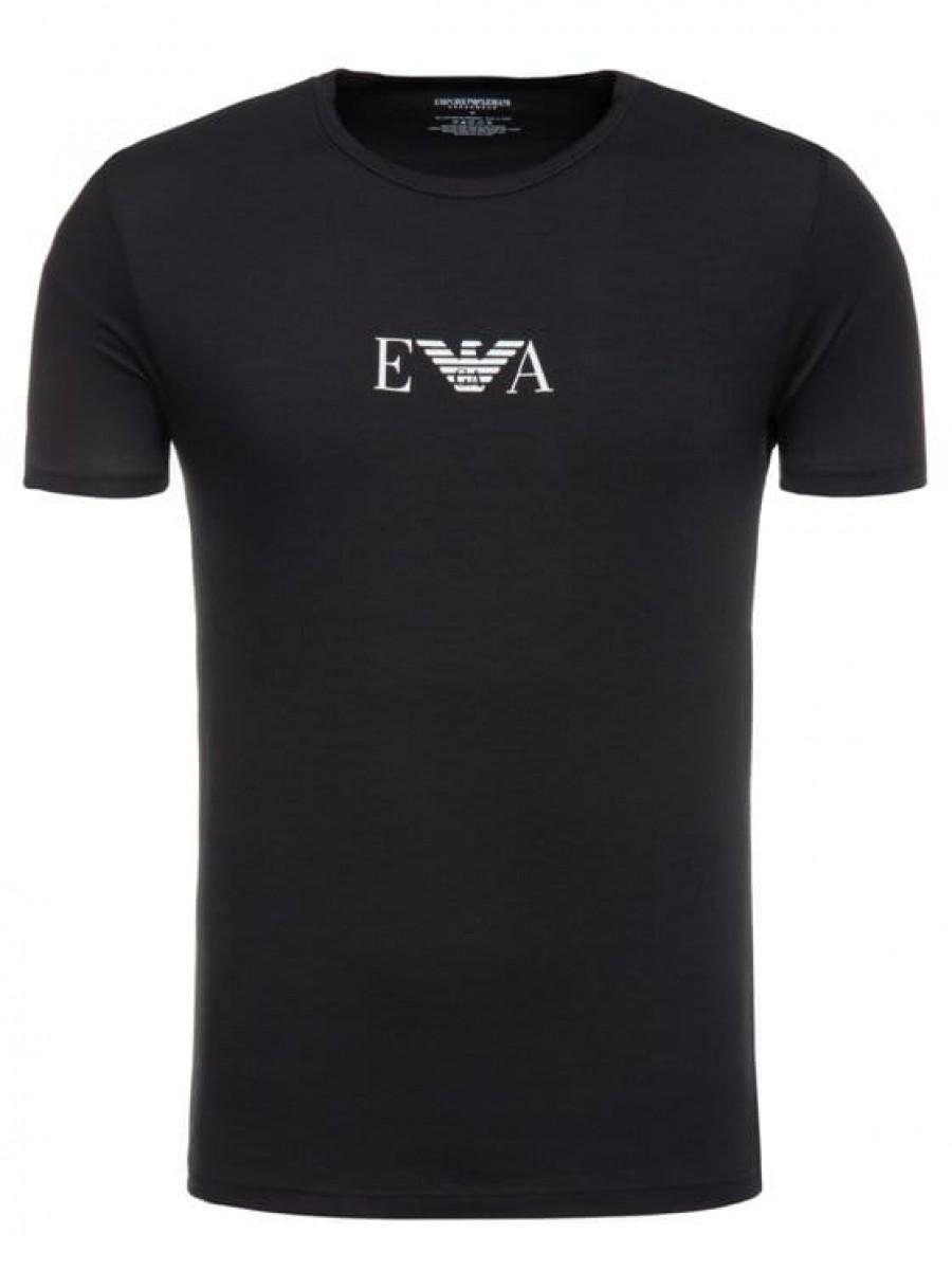 Pánske tričko EMPORIO ARMANI Crew Neck 2 Pack Black