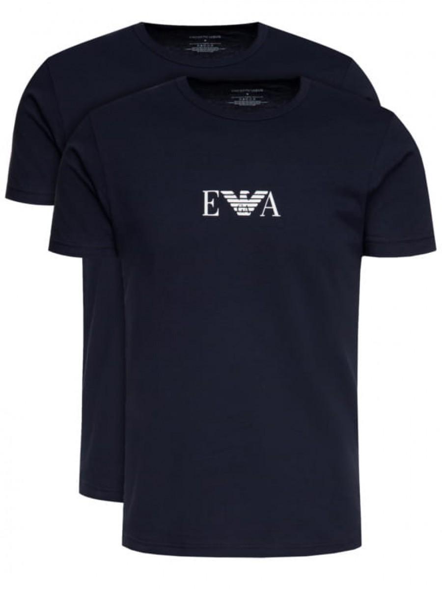Pánske tričko EMPORIO ARMANI Crew Neck 2 Pack Marine