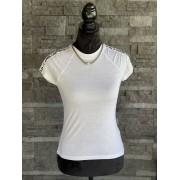 Dámske tričko KARL LAGERFELD Athleisure Logo Tape White