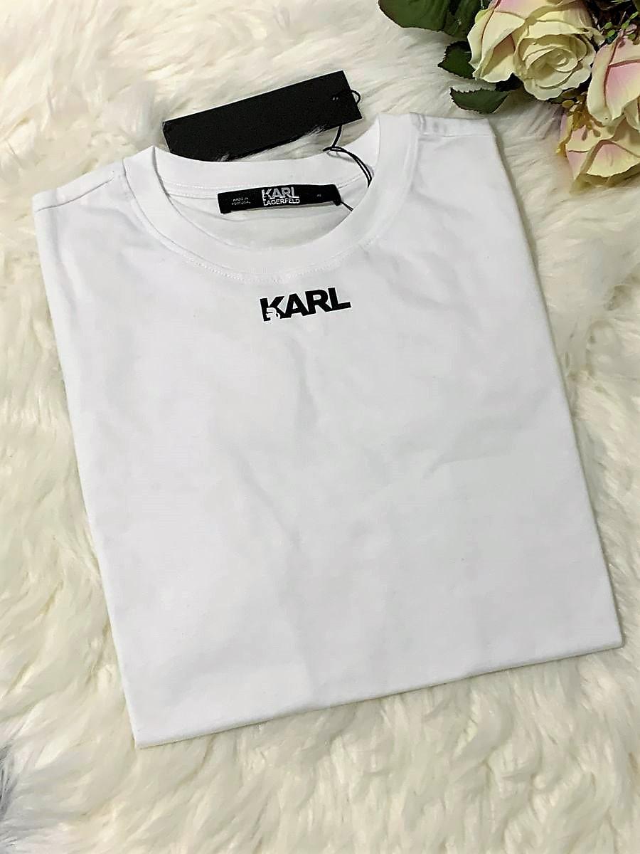 Dámske tričko KARL LAGERFELD Logo Frill White