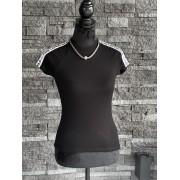 Dámske tričko KARL LAGERFELD Athleisure Logo Tape Black