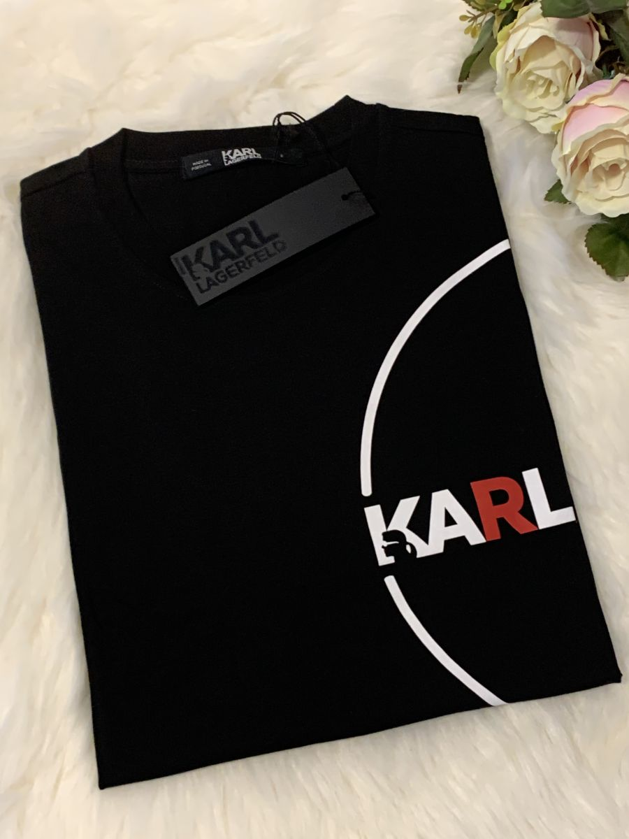 Pánske tričko KARL LAGERFELD K/Dots Logo Black