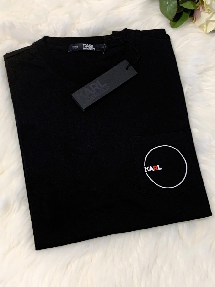 Pánske tričko KARL LAGERFELD K/Dots Pocket Black