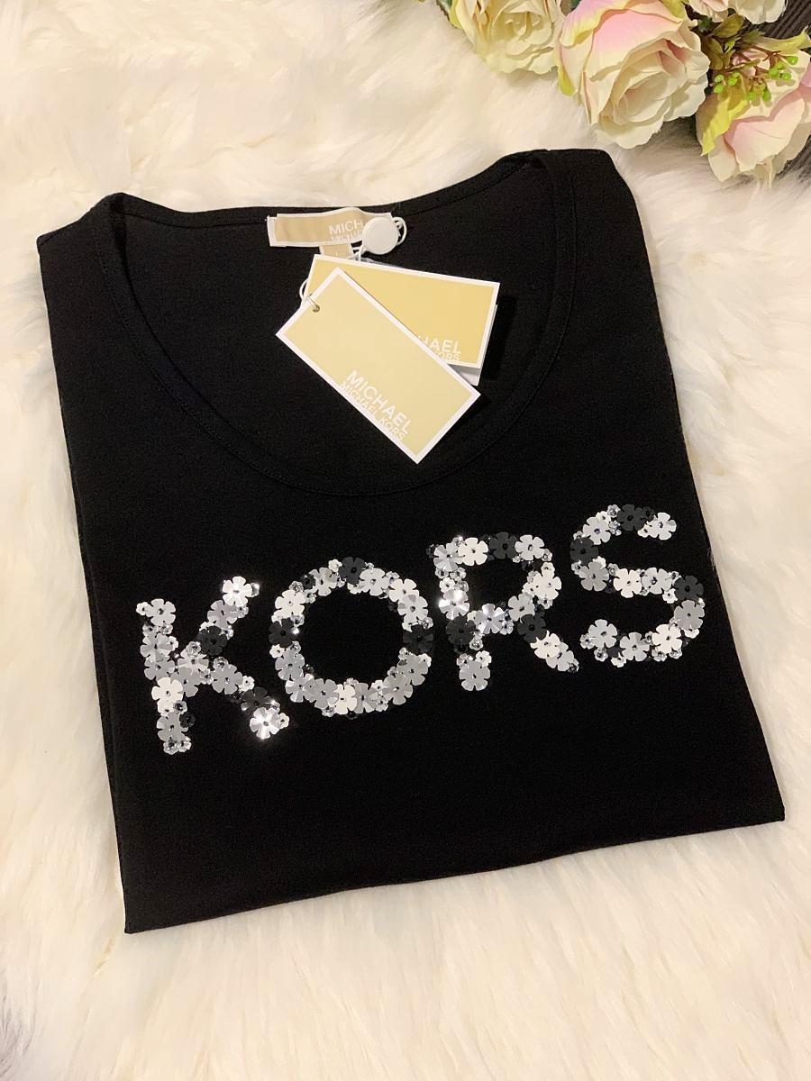 Dámske tričko Michael Kors Elvembroid Black