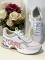 Dámske tenisky KARL LAGERFELD Ventura Lazare Logo Leather White/Misty Rose