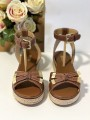 Dámske kožené sandále MICHAEL KORS Ripley Sandal Leather Luggage