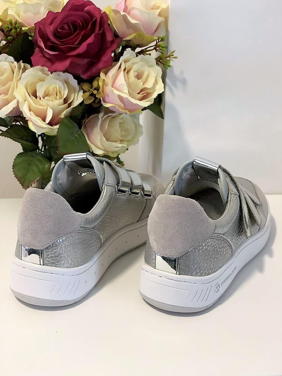 Dámske tenisky MICHAEL KORS Gertie Sneaker Matte Met Leather Silver